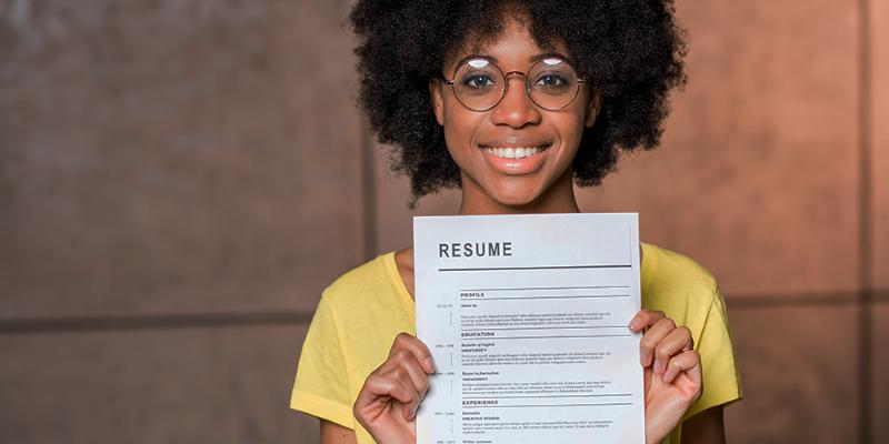 Teens: land a job by creating a resume!